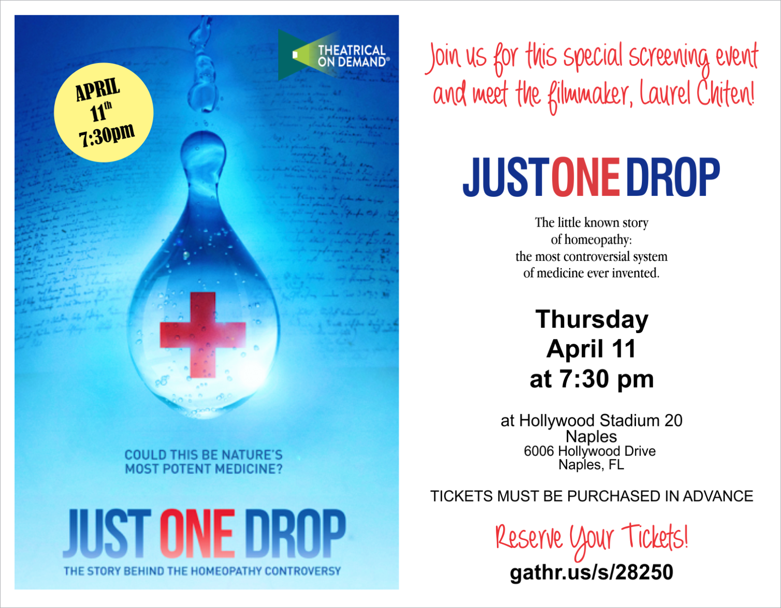 Just One Drop Flyer